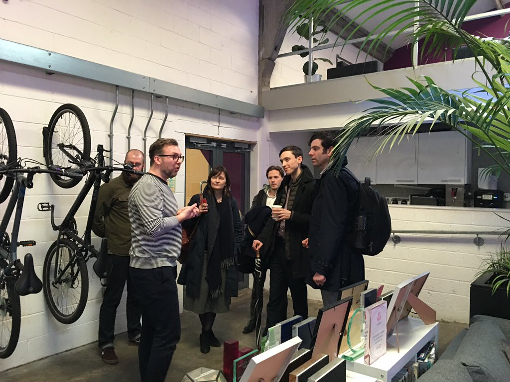 Welcomed @balticcreative by Paul Corocotan @agentmarketing A fine example of a business growing and thriving within the Baltic Creative space. @RedNinjaStudios @hmtreasury
