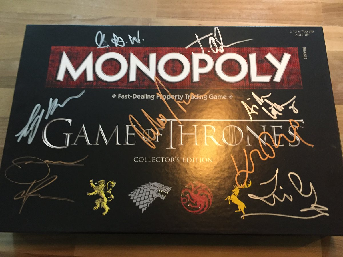 RT & Follow to be in with the chance to #Win a #GameofThrones Monopoly set signed by a few of the cast, including Daniel Portman (Podrick), Pilou Asbæk (Euron Greyjoy), Rory McCann (The Mountain) & Isaac Hempstead Wright (Bran Stark) .  T&C's:  http:// bit.ly/2RgYBEo     <br>http://pic.twitter.com/omMmbJTyWW
