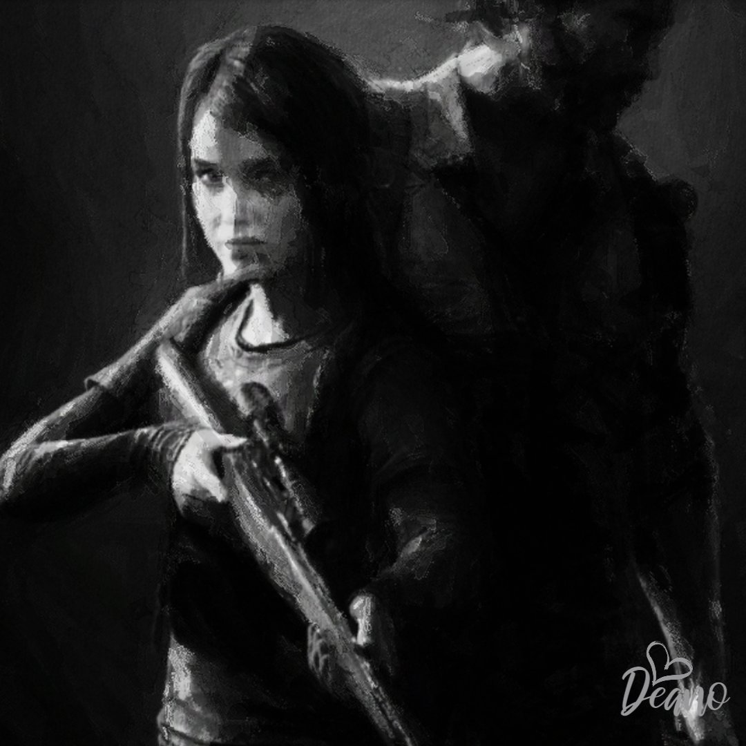 """'Joel and Ellie. The Last of Us.' My digital Fan Art for @Naughty_Dog and @PlayStationEU. A 16"""" x 16"""" Gaming Fan Art Commission. An awesome game! . . #art #thelastofus #gamingart #naughtydog #playstationeurope #madewithwacom #autodesksketchbook #gaming #artbydean #diguluxeupic.twitter.com/lYqYRH54yr"""