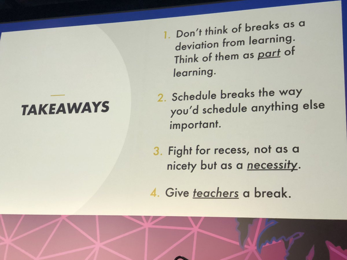 Take breaks!! @DanielPink #FETC