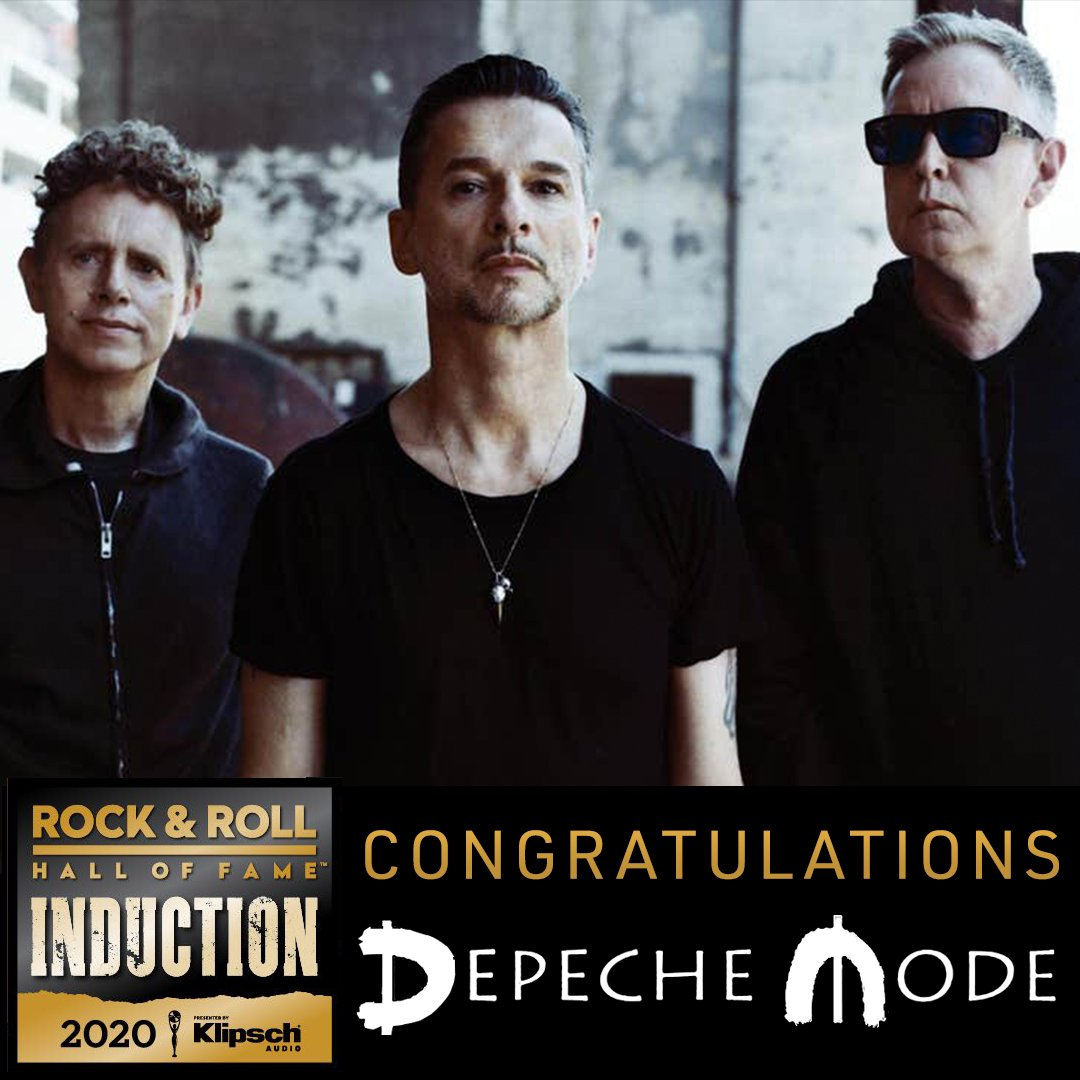 A big congratulations goes out to @depechemode who have today been deservedly confirmed as one of this year's Rock and Roll Hall of Fame inductees!