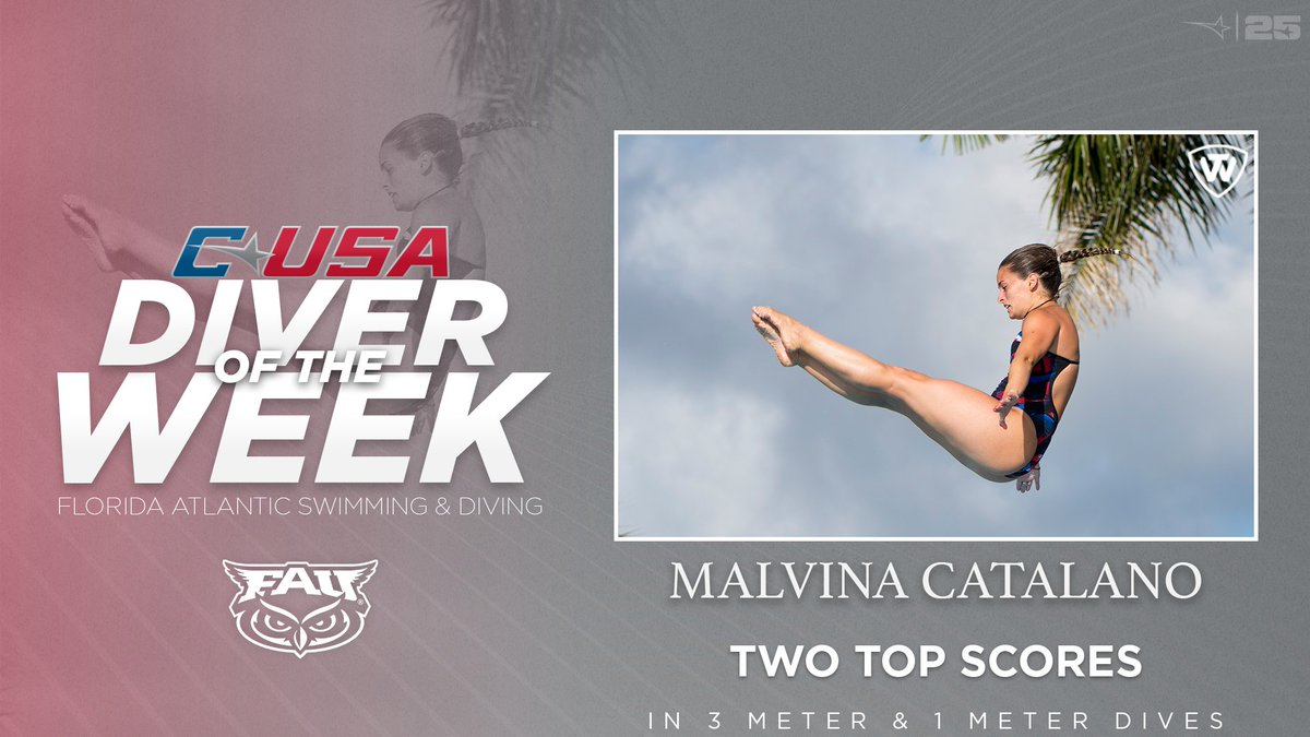📢: Congratulations to @fauswimdive's Malvina Catalano, #CUSASWIM Diver of the Week presented by @towbrand! 🏊‍♀️ 🏅1️⃣ | #TheCUSAWay