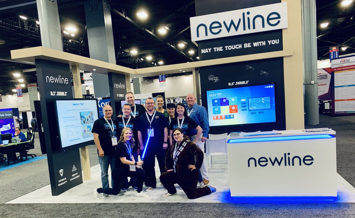 #FETC is here! The dExpo Hall is open, so come on down to Booth #2922 and see how Newline's displays can take your classroom out of this world!  Our first special session with The Nerdy Teacher starts at 1:30pm - we have some stellar prizes to give away just for attending! <br>http://pic.twitter.com/v1MTJ1BvoX