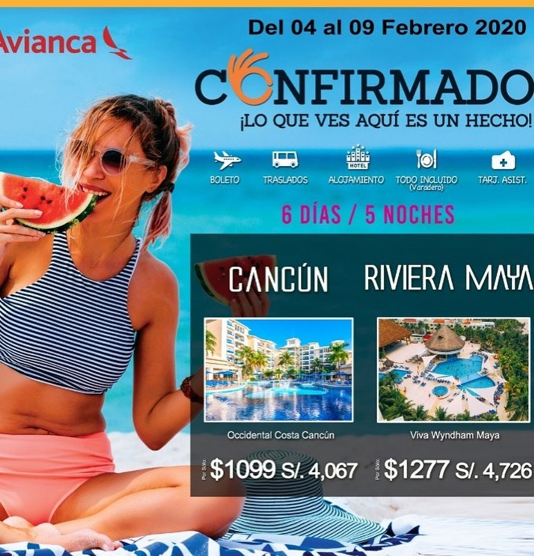 #CONFIRMADO 😎✌🏻  ¡Lo que ves aquí, es un hecho!  Salida confirmada :  • Cancún // 04 al 09 Febrero 2020  Compra estos paquetes con nosotros.  #varadero #lahabana #puntacana #cancún #rivieranaya #riodejaneiro #buzios #angradosreis #iguazu
