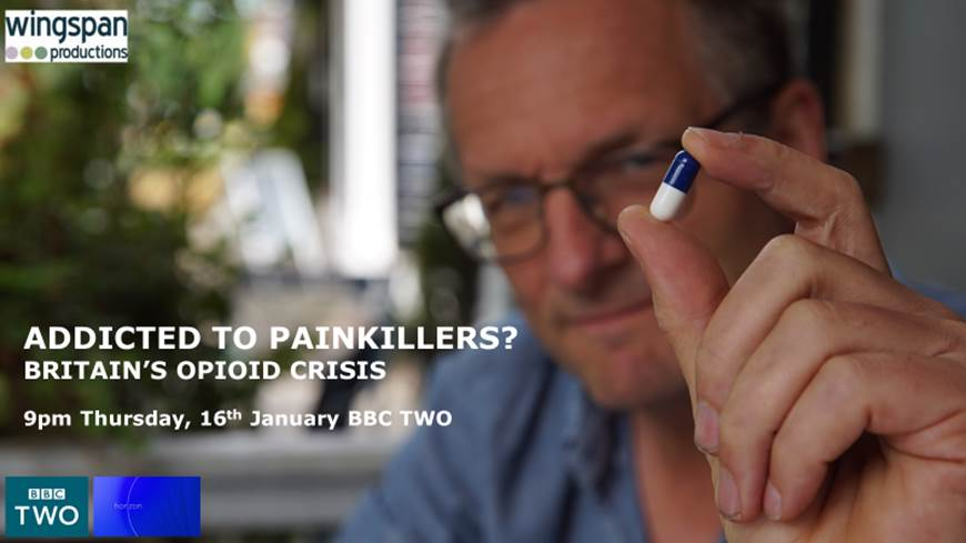 Addicted To Painkillers? @DrMichaelMosley looks at Britain's Opioid Crisis on tonight's Horizon. 9pm @BBCTwo