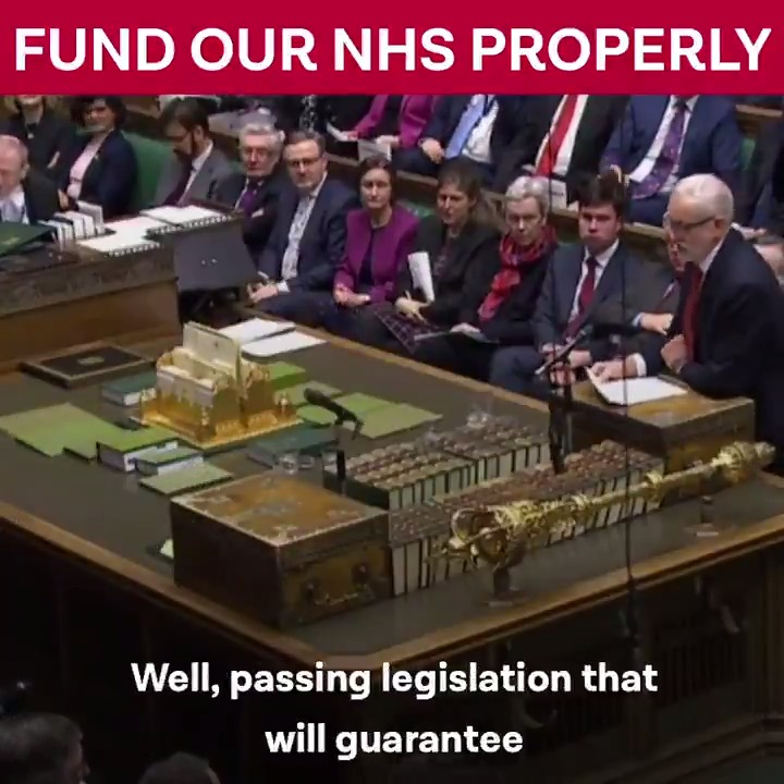 If Boris Johnson is really committed to fixing the crisis in our National Health Service, he should end the empty rhetoric and give the NHS the funding it needs. #PMQs