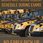 Image for the Tweet beginning: Busses will follow regular schedule