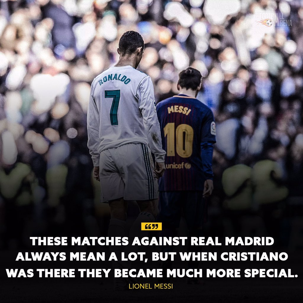 Messi missing  @Cristiano at  #ElClasico