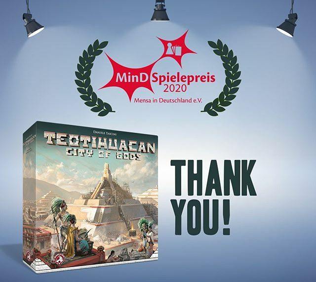 We are happy to announce that TEOTIHUACAN received one of the biggest board game award in Germany!  #iloveboardgames #boardgame #boardgames #boardgamer #boardgameaddict #tabletop #tabletopgame #tabletopgames #tabletopgamer #boardgamegeek #bgg #spiel #spi… https://ift.tt/2uRUEQA pic.twitter.com/kcDcm2VbSS