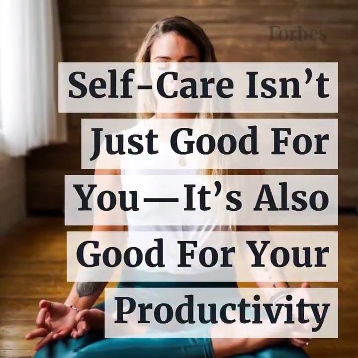 How do you practice self-care? forbes.com/sites/johnhall…