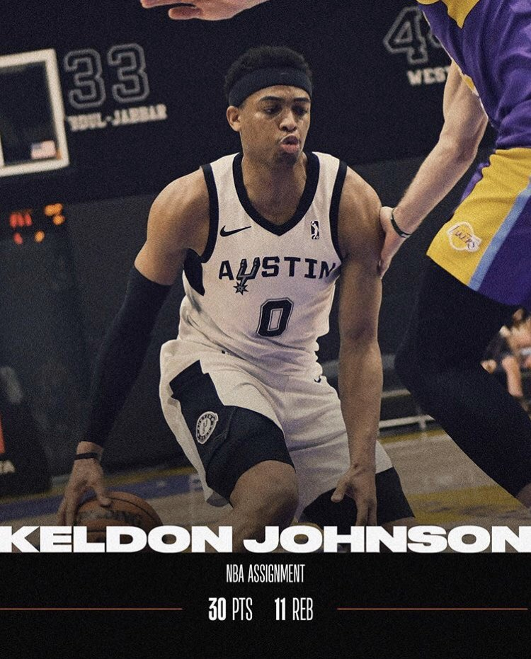 What a performance by @keIdonjohnson and @Chimezie_Metu last night!! 🔥  #ATXSpurs15 #GoSpursGo