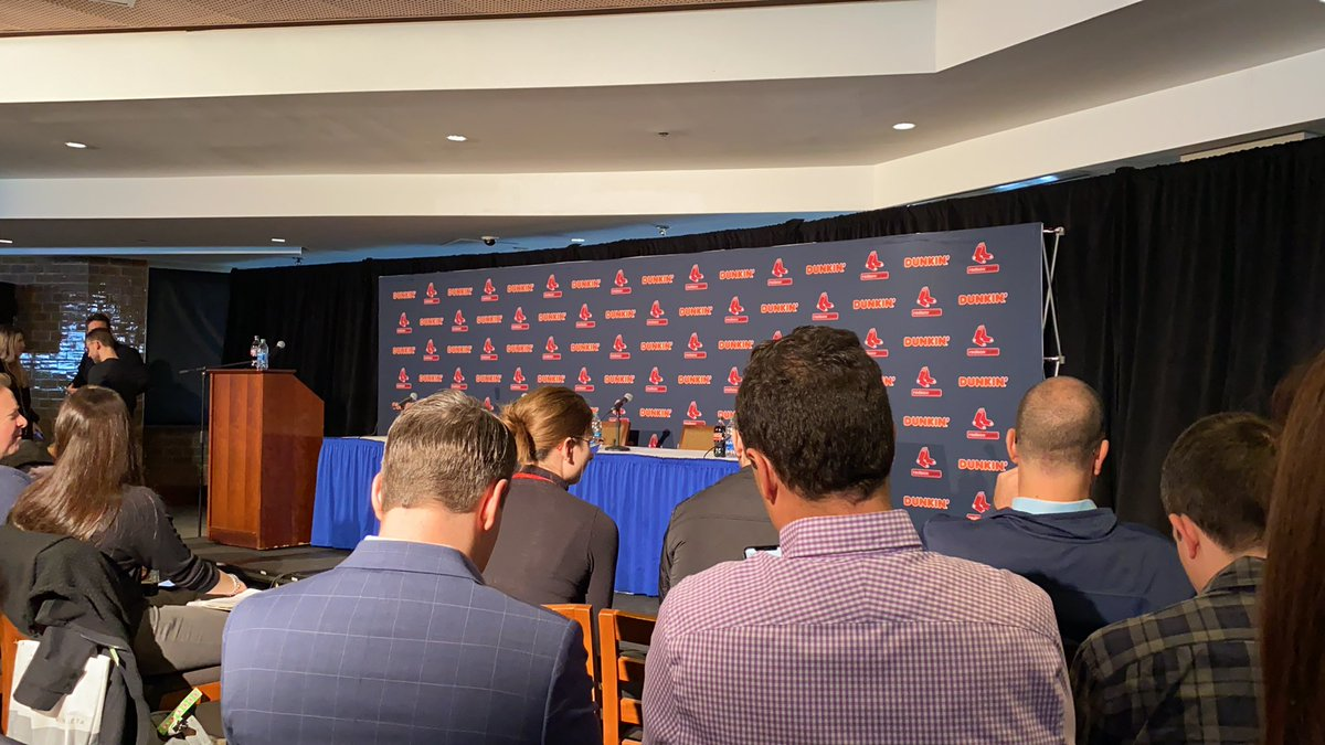 HAPPENING NOW: WEBN is in Fenway for the press conference regarding the departure of Red Sox manager Alex Cora. Stay tuned for a live update on our YouTube. https://t.co/TB9XXUxFNZ