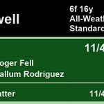 17:50 @Southwell_Races  1st Zylan 11/4 2nd Private Matter 11/4  A Win for @rogerfell22 and @CallumRodrigue4  Full Results here: https://t.co/xFLKDu32MI #HorseRacing #Results