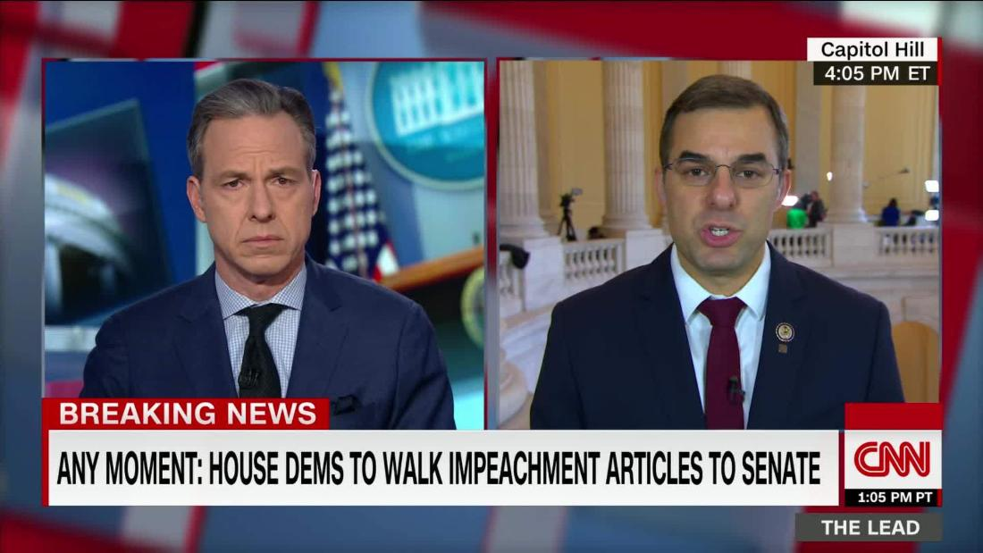 .@justinamash: Dem leaders never talked to me about being an impeachment manager cnn.it/35Xdnqw