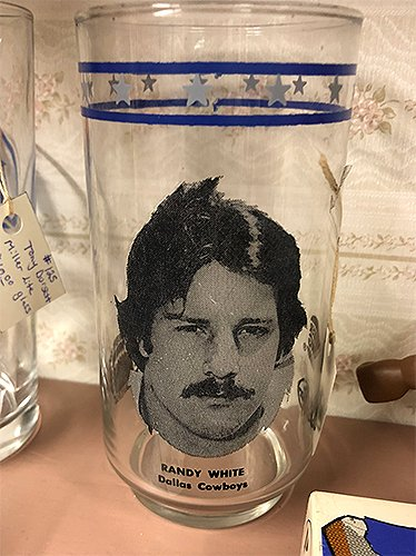 Happy birthday to legend Randy White...seen here on one of his many collectible glasses