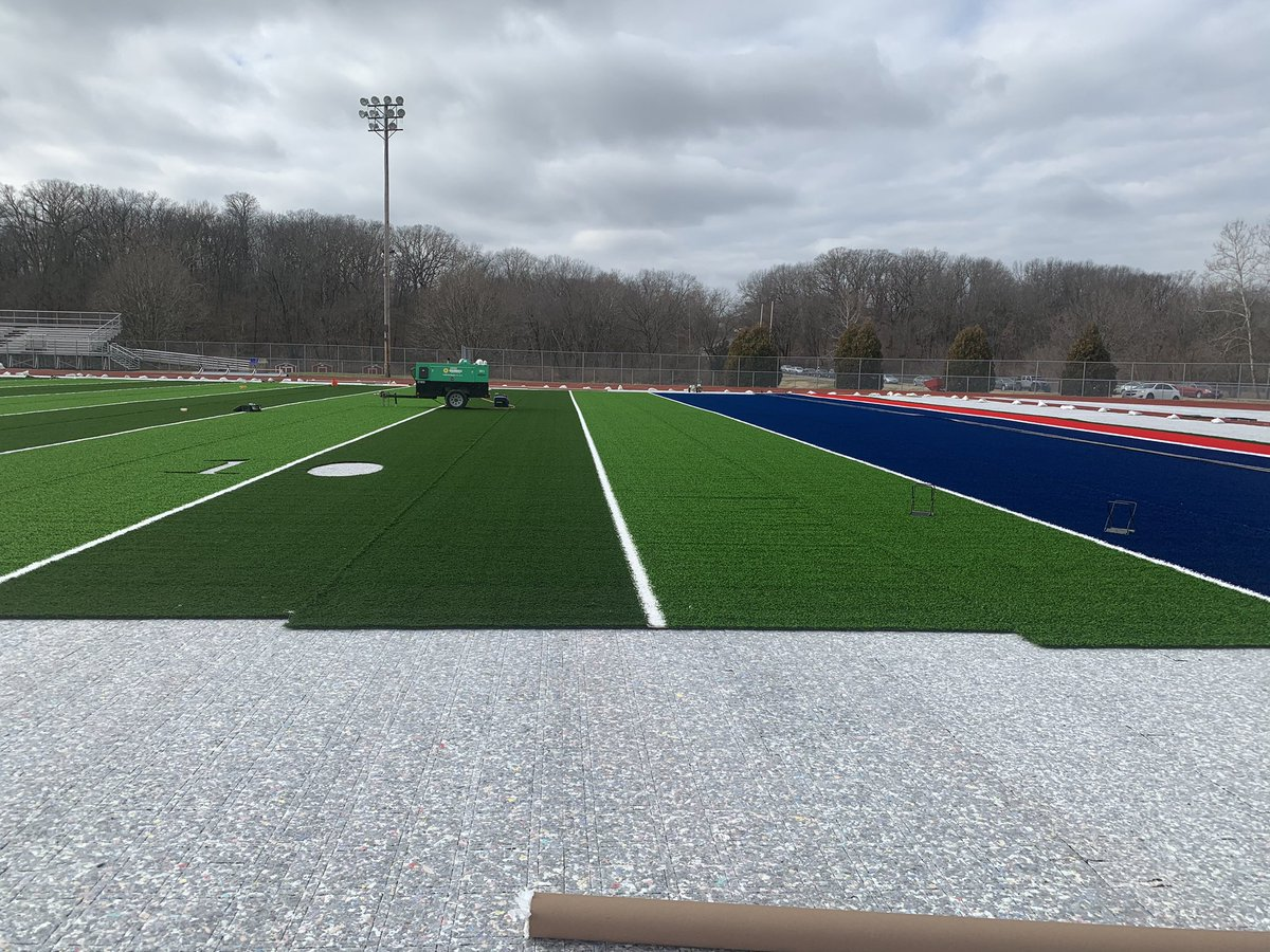 New turf is starting to go down....