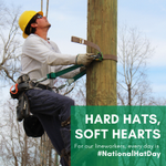Happy #NationalHatDay 🎩👒👷! Hard hats keep your lineworkers safe while their hearts drive them to power our community.
