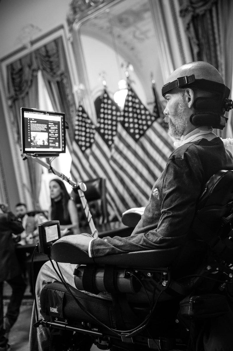 .@SteveGleason checking Twitter at the Capitol ⚜️