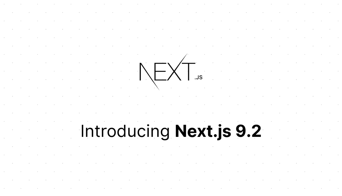 Next.js 9.2:  ⬩ Built-In CSS Imports for Global Styles ⬩ Built-In CSS Modules for Component-Level Styles ⬩ Catch-All Dynamic Routes ⬩ Up to 70% Reduced Largest JavaScript Bundle ⬩ Up to 87% Less JavaScript Loaded after Multiple Navigations   https:// nextjs.org/blog/next-9-2     <br>http://pic.twitter.com/5l04tfPF6r