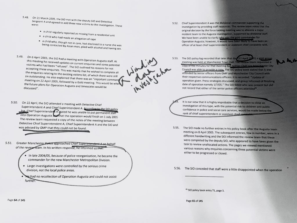 @Whistleblowerat This is the section of the report that deals with the meeting (excuse my scribbles - it was about 4am when I got to this page). Also - annex page listing roles ⬇️ Dave Thompson has confirmed to us that he is 'Chief Supt A'. But disputes the version of events.