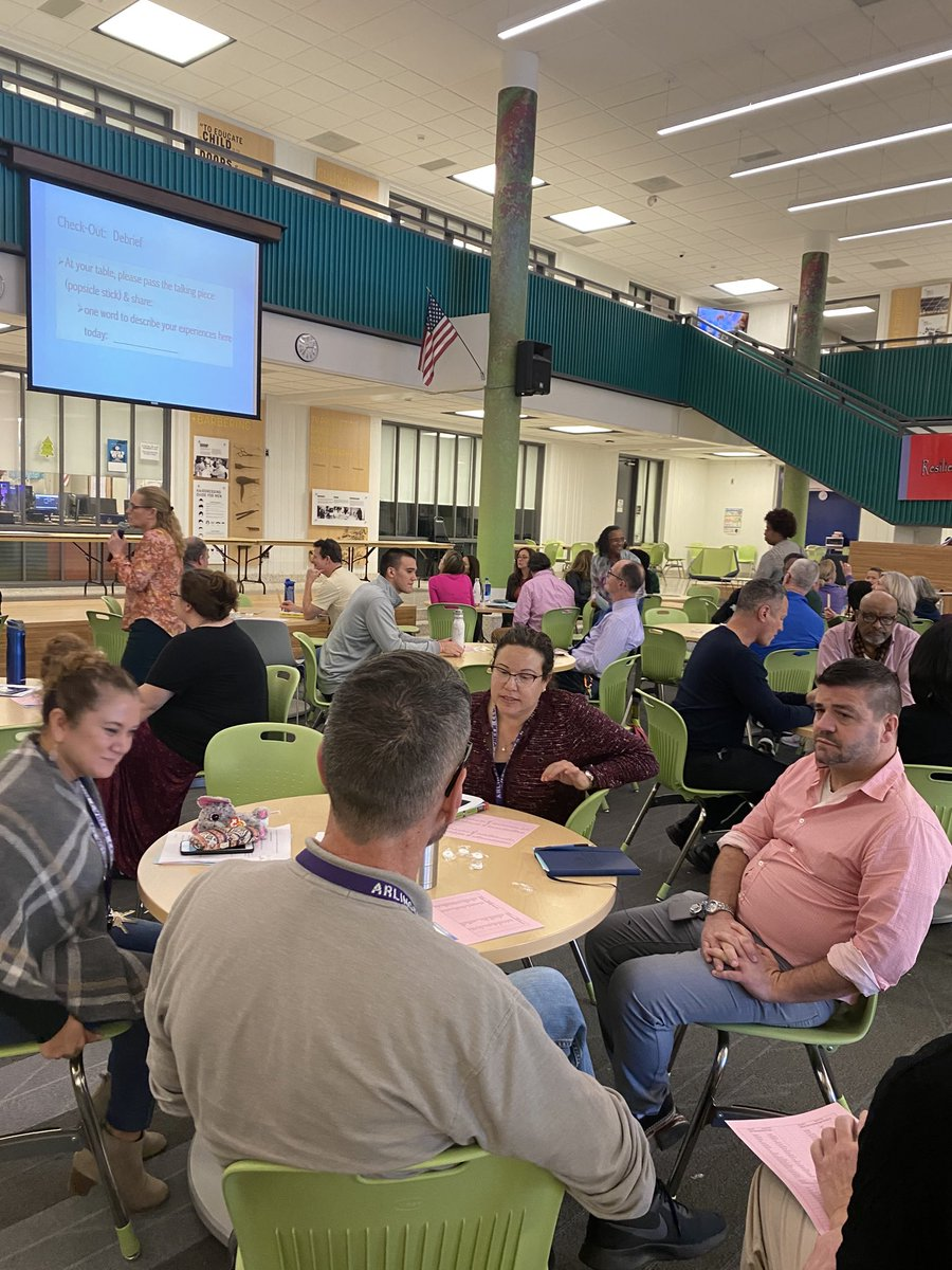 Career Center PD with the entire staff learning about Restorative Practice - Community Circles.  Kudos and thank you for the continued work on relationships, relationships, relationships. <a target='_blank' href='https://t.co/rWjbMLpa7i'>https://t.co/rWjbMLpa7i</a>
