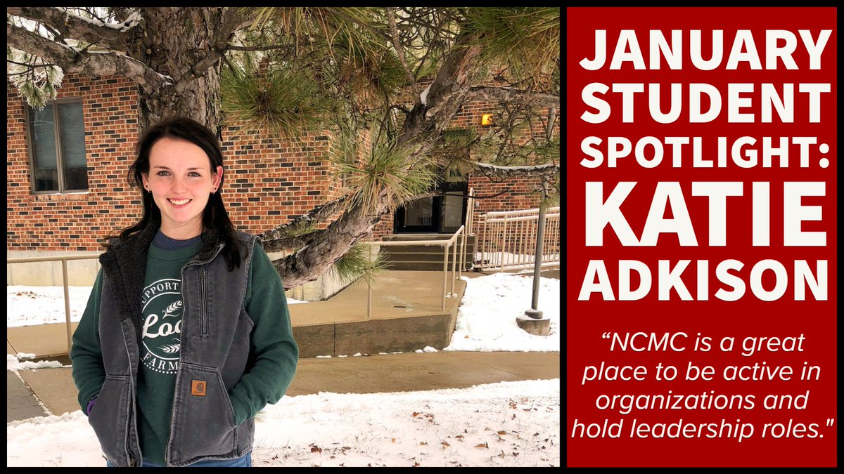 Congratulations @Katie Adkison for being selected as NCMC's Outstanding Student for January! https://t.co/SjG4iQR2BG https://t.co/BjvwqgaSzu