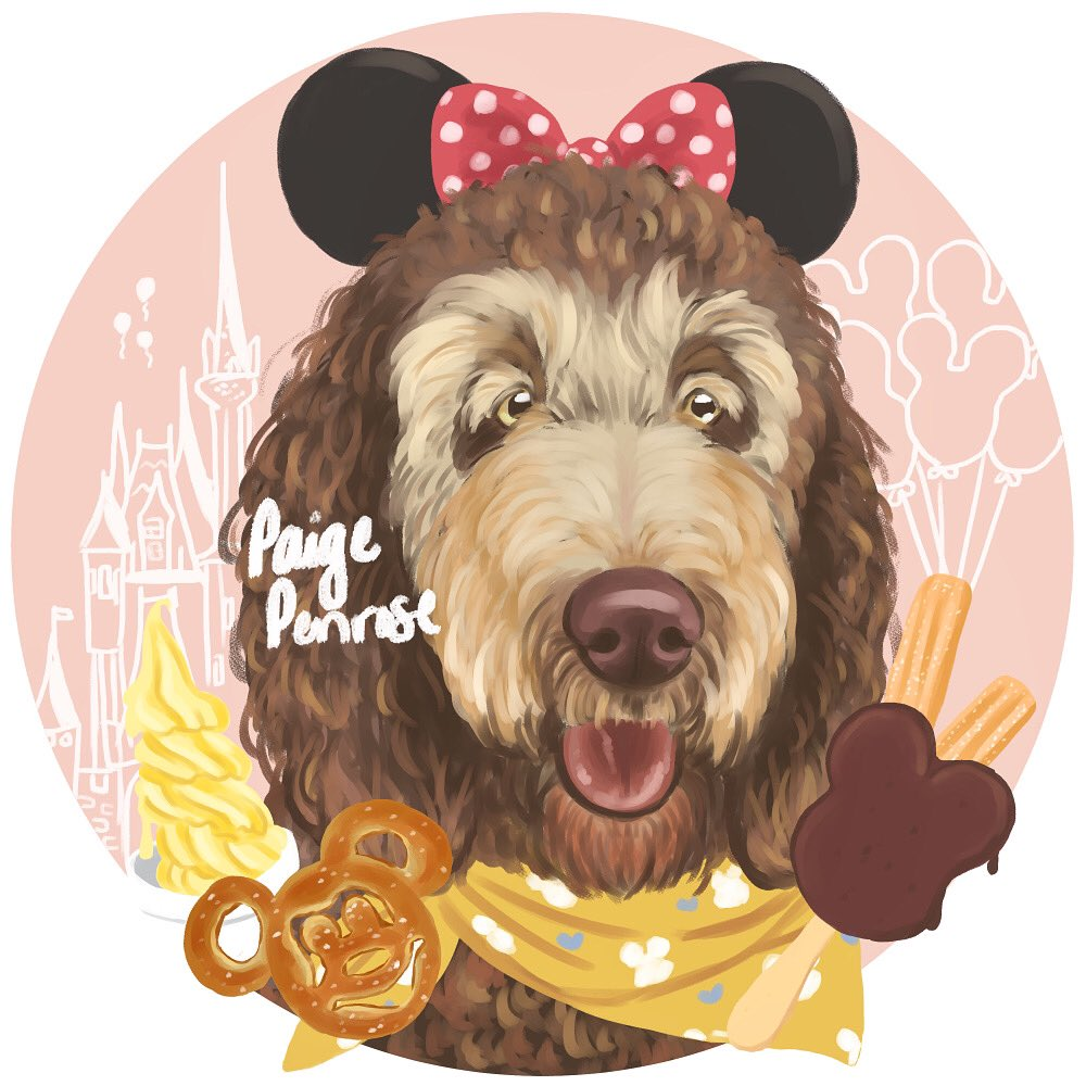 Lilly at Disney World  Thank you so much, Emily!!   http://Instagram.com/starrypaigeart http://starrypaige.redbubble.com http://Facebook.com/starrypaigeart  #disneyworld #petportrait #madewithwacompic.twitter.com/u9T3qdXrPH