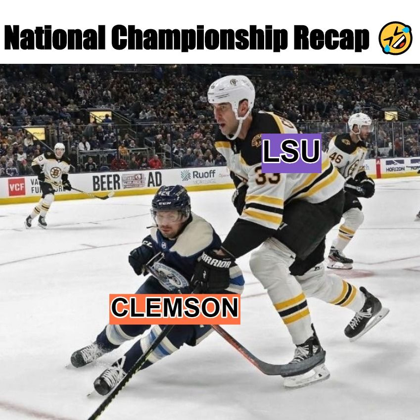 In case you missed the game #lsu #clemson #lsutigers #tigers #cfb #college #collegefootball #sportsmemes #funny #meme #sports #collegenationalchampionship #nationalchamps #joeborrowpic.twitter.com/09Vyyo1UCh