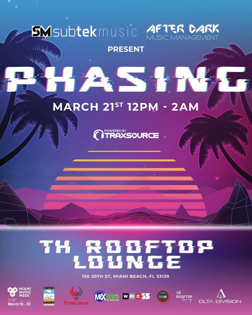 After Dark presents Phasing March 21st for this MMW special!!  Use promo code deadpool for discounts   Ticket link: http://bit.ly/Phasing   #AfterDark #MMW #MMW2020 #MiamiMusicWeek2020 #SubtekMusic #MiamiParties #MiamiEvents #MiamiParties pic.twitter.com/RGHja3E8xR