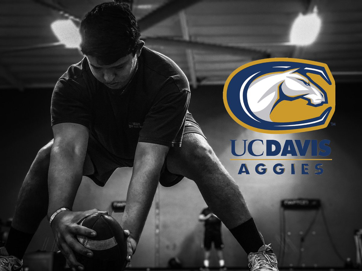 After a great talk with @Creightp, I am excited to announce that I am 100% committed to the University of California Davis to further my academic and football career! #GoAggies @diablocjohnson @missionfootball @MVHS_Diablos https://t.co/7M2CU5Q0SH