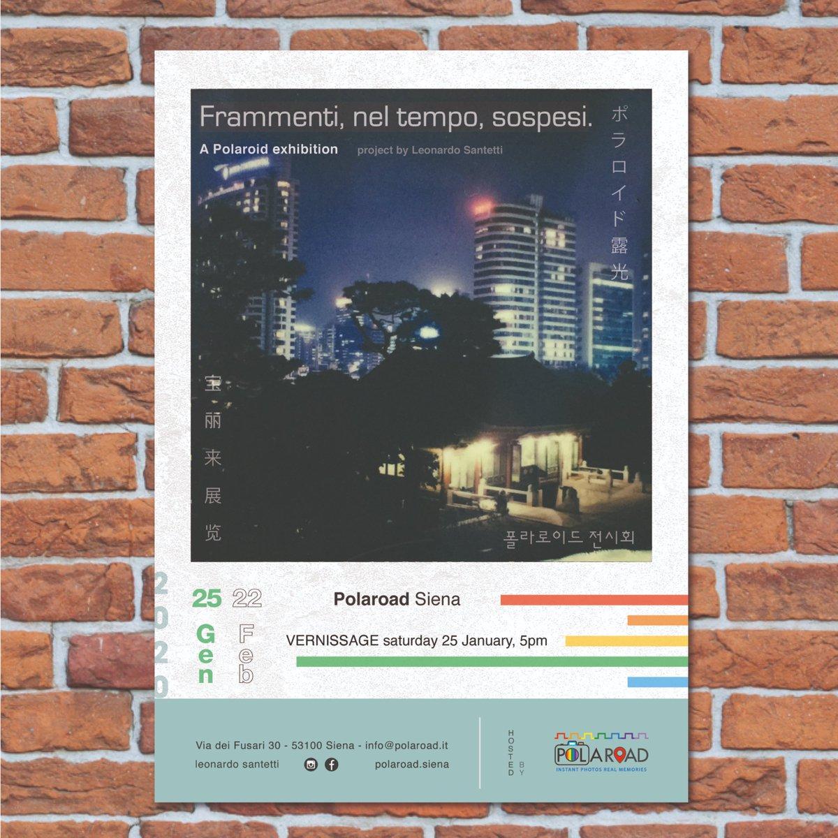 Polaroid Exhibition   SIENA, ITALY @polaroidorignls  opening 25 January 2020 5 p.m. #Polaroid #Instantphotography #analogphotography #stories #keepfilmalive #makerealphotos  https://www.instagram.com/p/B7WvmsICyeH/pic.twitter.com/gBuqKj78x6