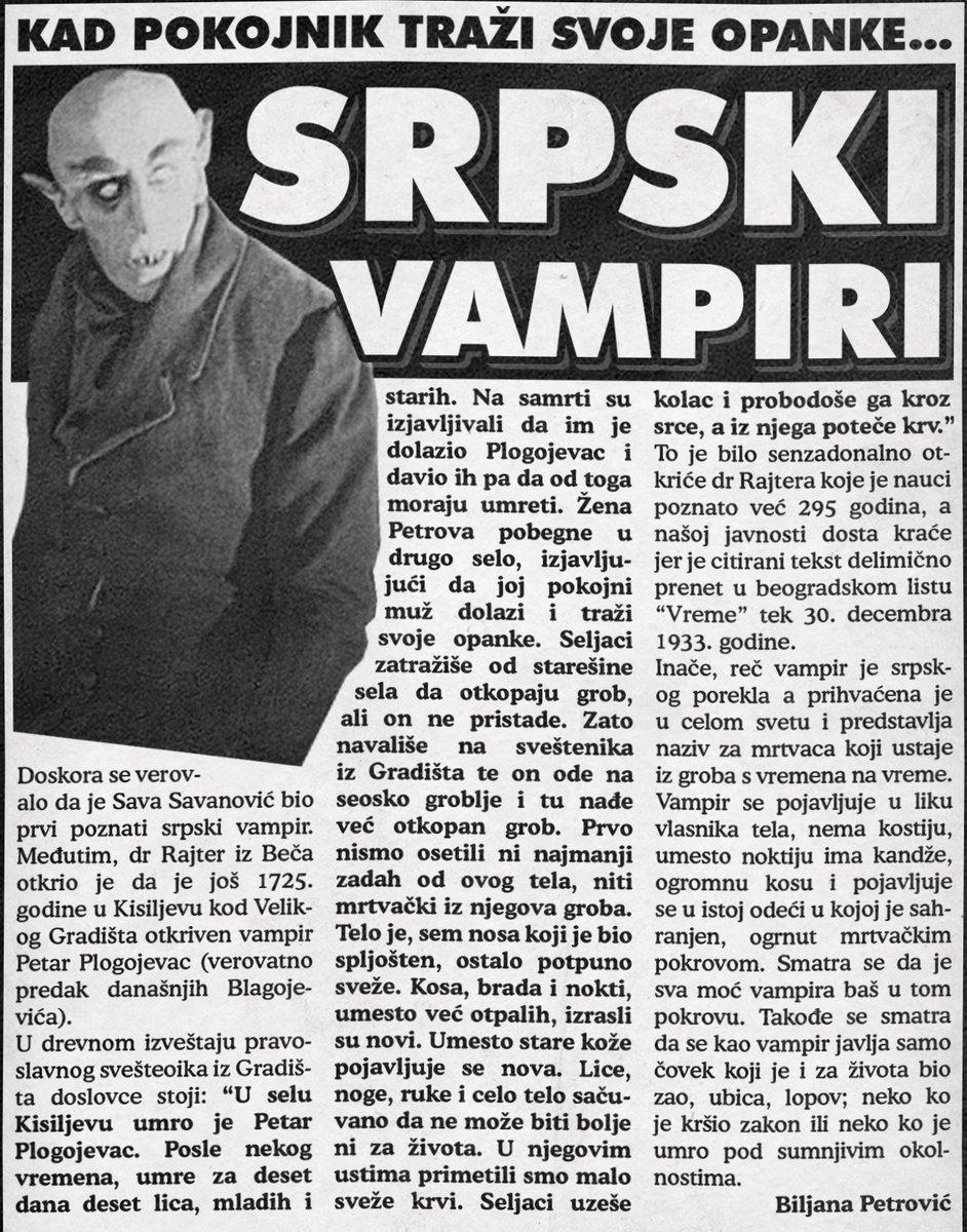 Legende o srpskim vampirima