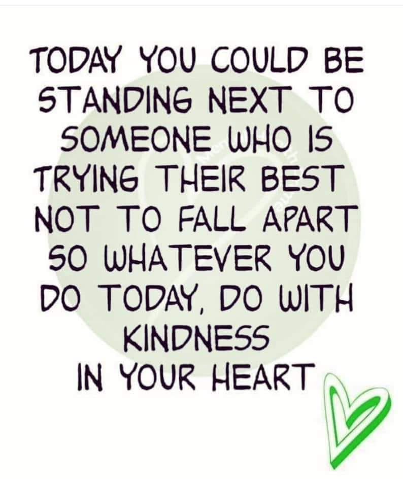 Something to bear in mind for tomorrow. #BeKind <br>http://pic.twitter.com/kFEykixSrq