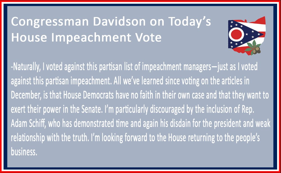 Today the #House voted on #impeachment for the last time. It's in the #Senate's hands now.