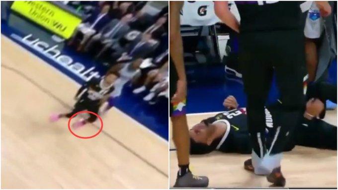 【影片】意外!金塊1.7億主控腳踝扭傷痛苦倒地,被兩名隊友攙扶離場!