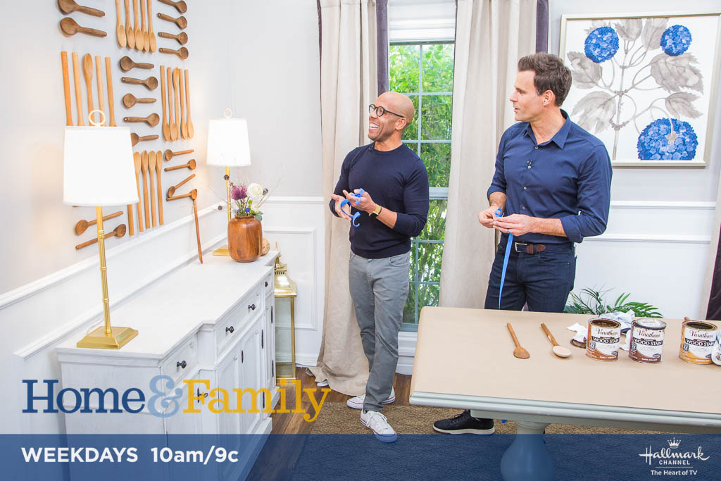 .@kennethwingard is stirring up a fun work of art! Tune in TOMORROW at 10am/9c on @hallmarkchannel.