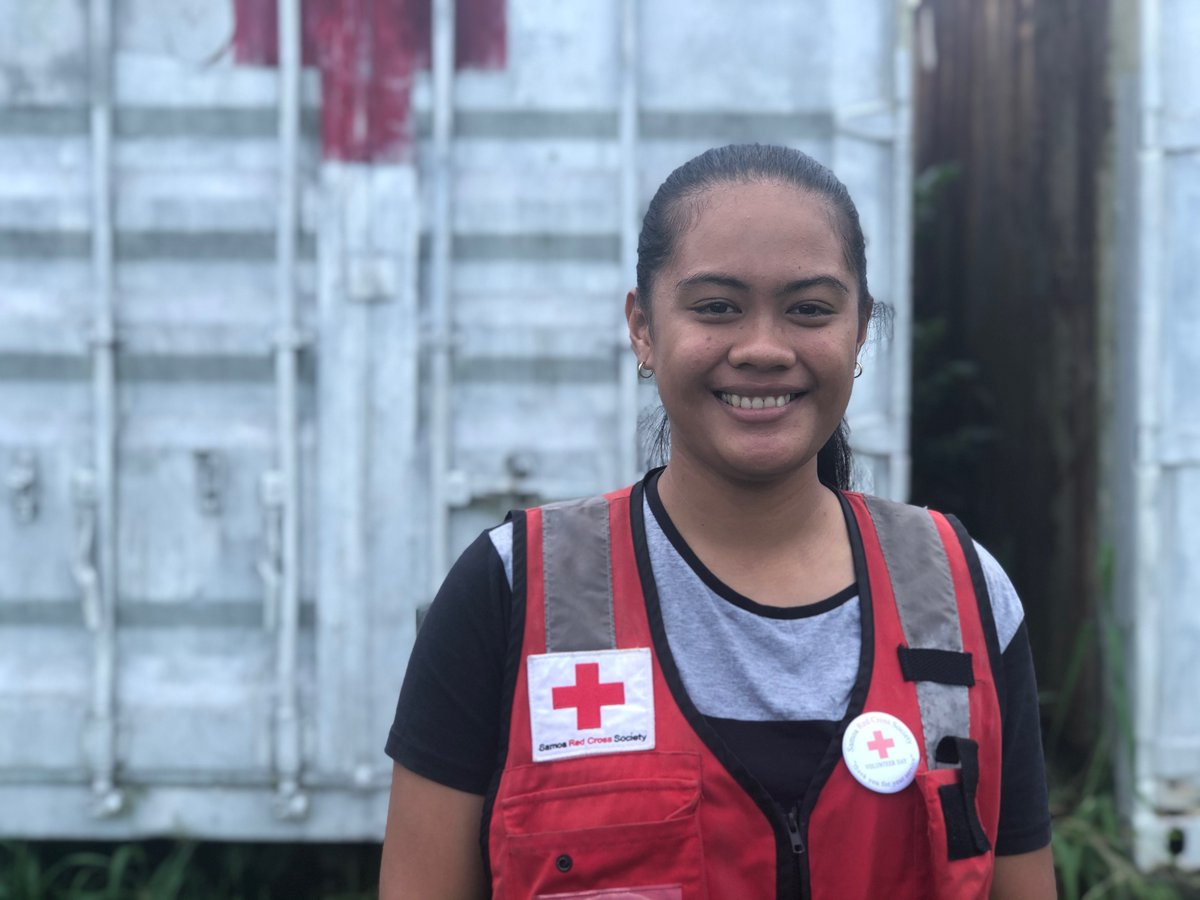 """7/7 """"It's hard to see people being vulnerable like that. It's been eye-opening experience to really see what Red Cross can do to help.""""   Astrid has been a #volunteer with #Samoa #RedCross since she was 9 yo.  #ThanksVolunteers #SamoaMeasles <br>http://pic.twitter.com/NiIHVpZyjW"""
