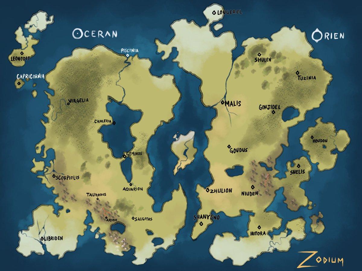 Something I'm working on?? #map #digitalart #zodiac