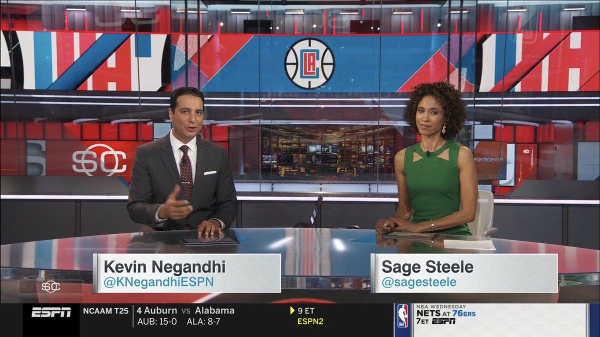 It's @KNegandhiESPN anchoring @SportsCenter right now on @espn!! @aaja