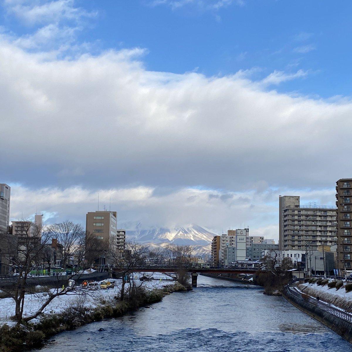 2020/01/16 盛岡市の開運橋から撮影。みなさま、体調管理に気をつけてお過ごしください。 #岩手 #盛岡 #北上川 #岩手においでよ #ヒーローの日 #禁酒の日