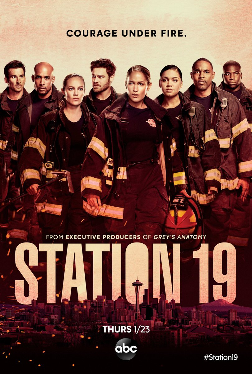 In case you didn't see all this #fire @Station19 @GreysABC #crossover coming Jan 23