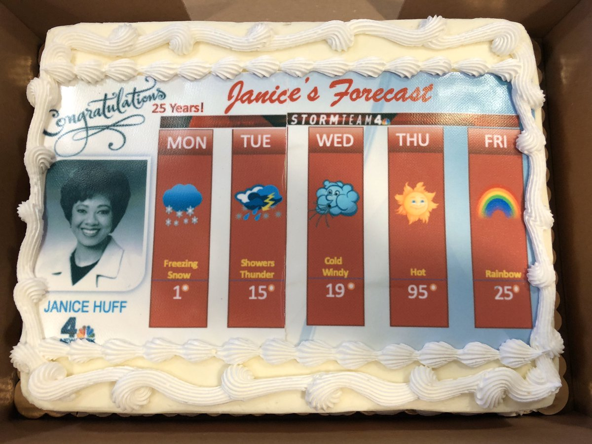 Celebrating 25 years of leadership, innovation, expertise and overall excellence. Congrats to our very own @JaniceHuff4ny.  #nbc4ny pic.twitter.com/wWdibCdPkT