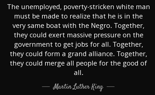 Today is Martin Luther King's birthday.