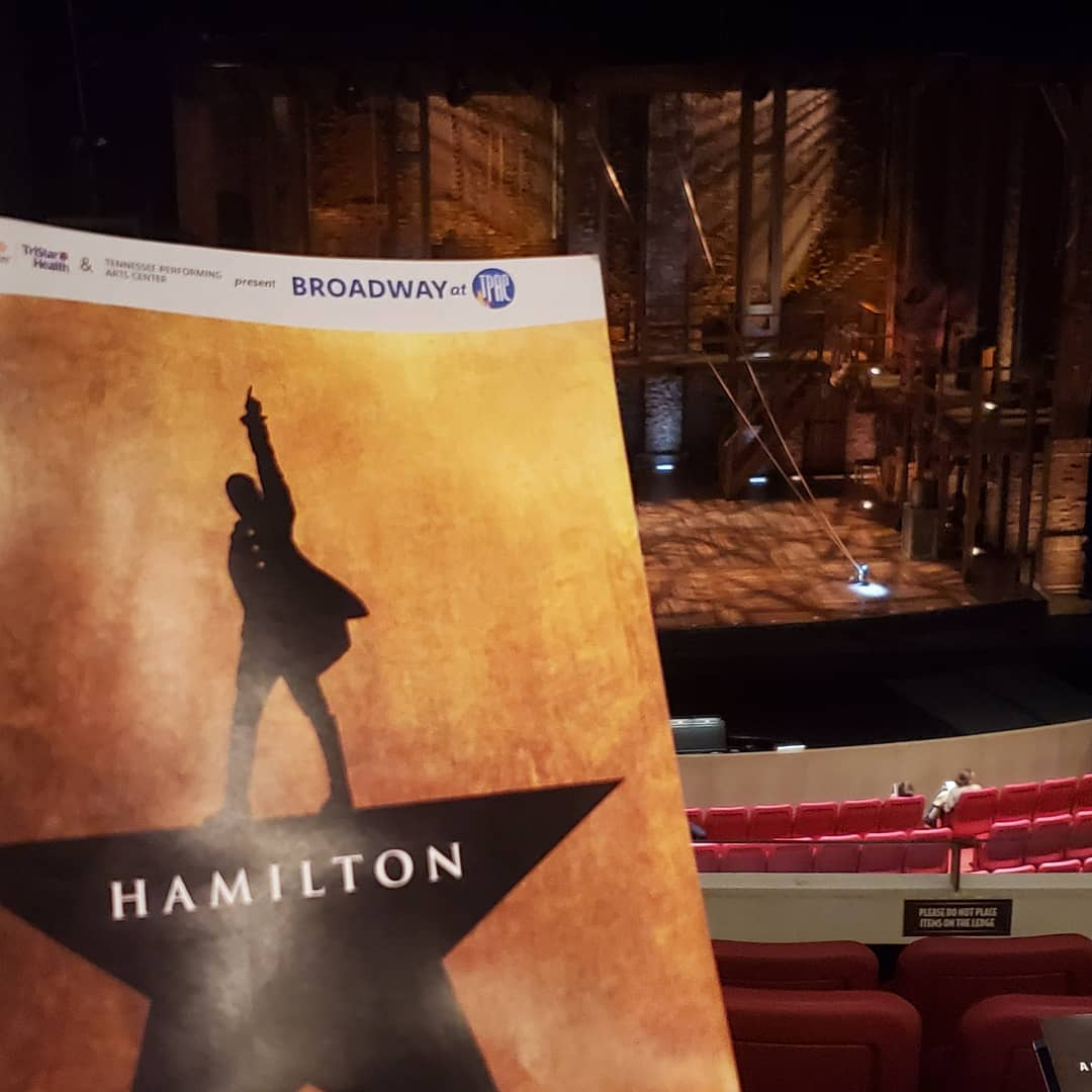"I'm so excited to be ""In the room where it happens!"" @HamiltonMusical @tpac"