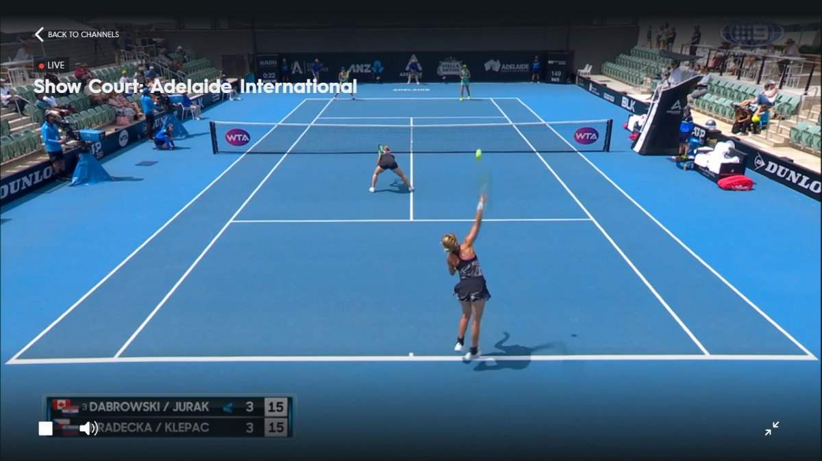 A brilliant @WTA ladies double's match @AdelaideTennis unfolding on court between @GabyDabrowski & @daryjurak vs @andrejaklepac & #Hradecka Poised and precision shot making, volleys unfolding from gorgeous rallies. Truly the beauty that is doubles with some of its best players. https://t.co/kgAcMl39Qu