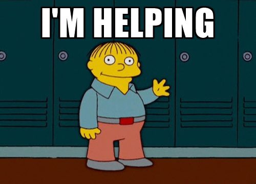 "reactions on Twitter: ""ralph wiggum the simpsons I'm helping… """