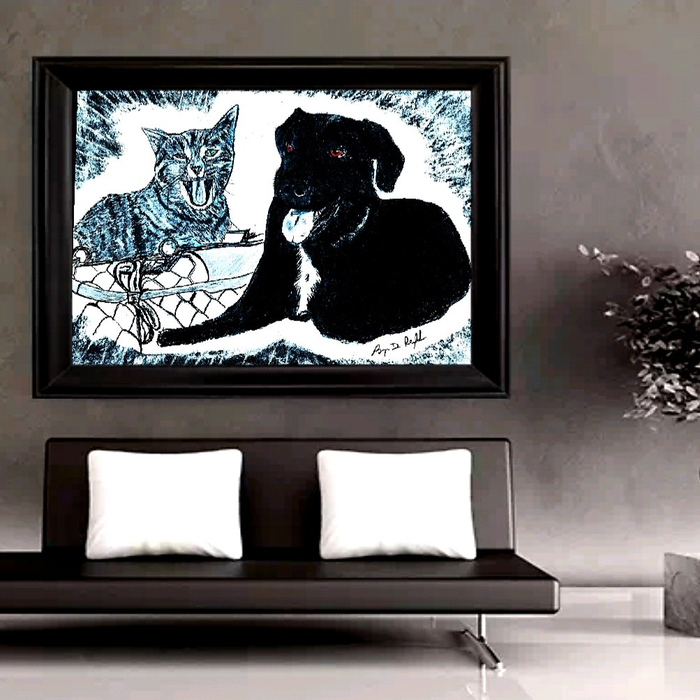 #petportrait commissioned drawings make a unique gift that will be around long after the & are gone......  Contact me to discuss YOUR one-of-a-kind #furbaby artwork drawing! https://www.darkmountainarts.compic.twitter.com/7Io4bNF0PJ