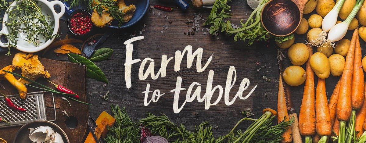 @FoodTravelist A10: With so much agriculture here, Dining at Farm to Table restaurants would be the ultimate food vacation using the freshest ingredients and meeting the farmers and purveyors firsthand #FoodTravelChat#DreamEats (pic not my own)