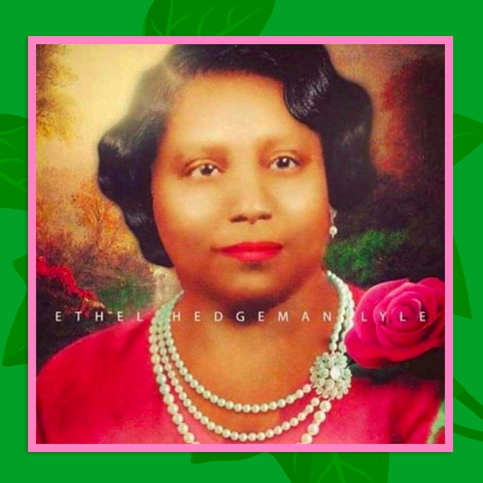 Our Guiding Light, Our Founder, Ethel Hedgeman Lyle!  In 1908, her vision crystallized as Alpha Kappa Alpha, the FIRST black Greek-letter sorority. #AKAFoundersDay #AKA1908