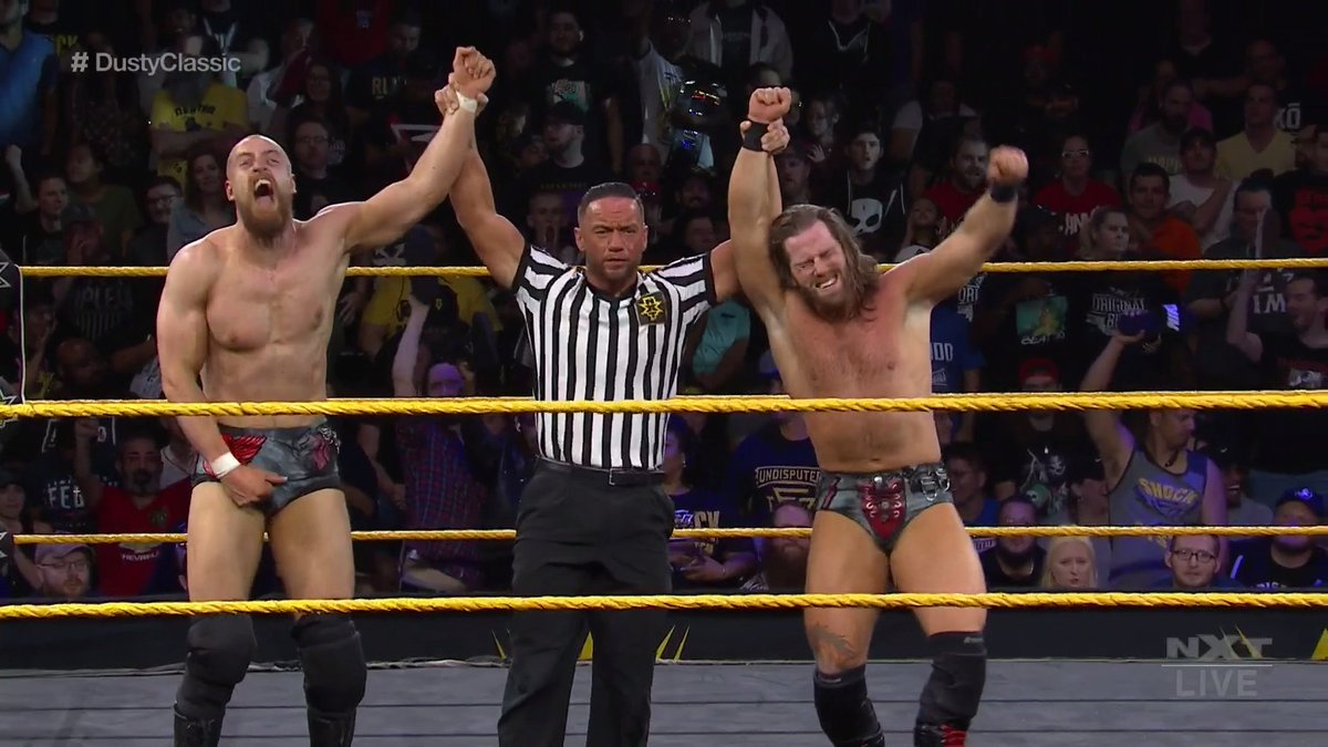 The BroserWeights & Grizzled Young Veterans Advance In The WWE NXT Dusty Rhodes Tag Team Classic